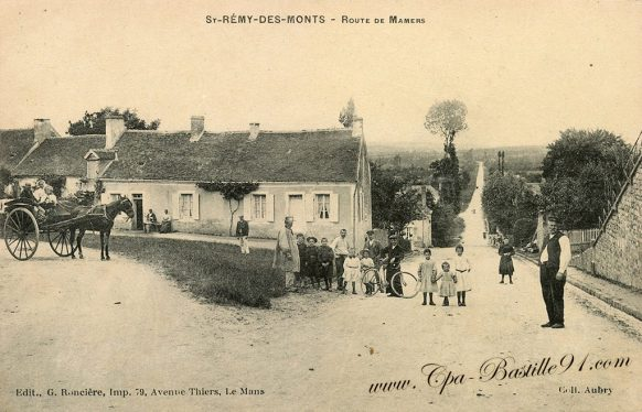 Carte Poste Ancienne de Saint Rémy des Monts - Route de Mamers