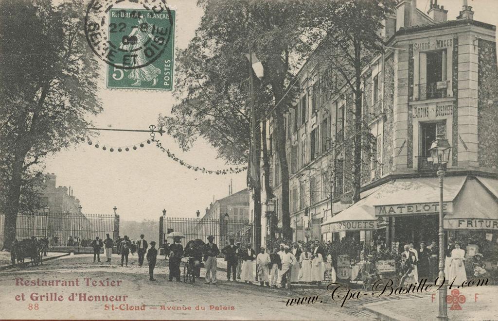 Cartes postales anciennes cartes postales anciennes de bastille91 - Porte de saint cloud restaurant ...