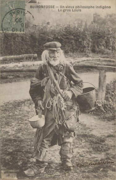 Carte Postale de Buironfosse - Un vieux philosophe indigène - Le Gros Louis