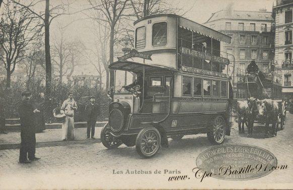 Carte Postales Ancienne des Autobus de Paris