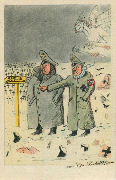 Stratégie Hitlérienne - Il fait froid - Avançons par là vers Berlin