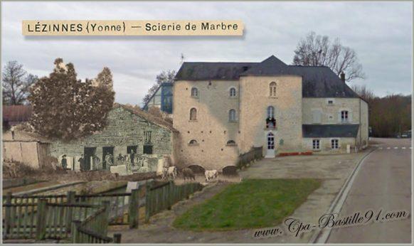 Lézinnes-la-scierie-de-marbre-dhier-à-Aujourdhui
