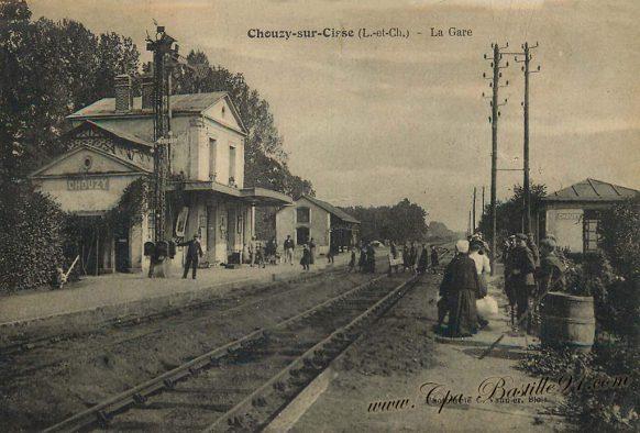 Carte Postale Ancienne de Chouzy-sur-Cisse - la Gare