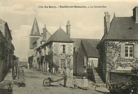 Carte Postale Ancienne - En Berry - Neuilly-en-Sancerre - La grande rue