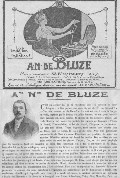 M-De-BLUZE imitation des faux diamants