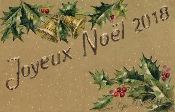 Bon Noel 2018 en carte postale