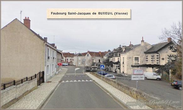 Faubourg Saint Jacques de Buxeuil d'hier à aujourd'hui