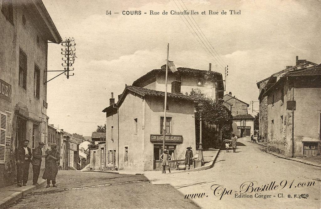 COURS la rue Chauffailles et rue de Thel
