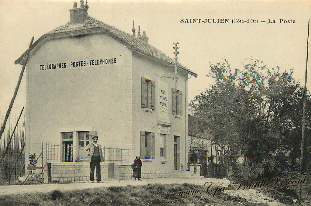 Carte Postale Ancienne de Saint-Julien - Côte d'Or - La Poste