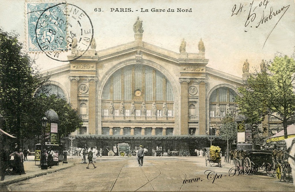 paris la gare du nord en 1900 cartes postales anciennes. Black Bedroom Furniture Sets. Home Design Ideas