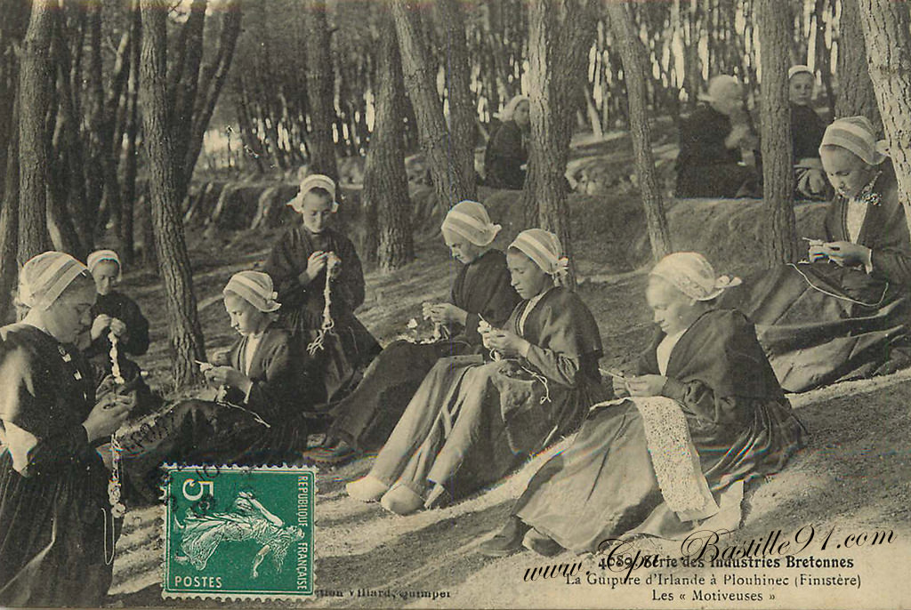 Carte Postale Ancienne Série des industries Bretonnes – La Guipure ...